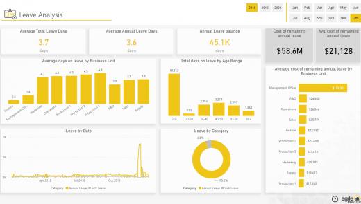 Agile HR Analytics - Leave Analysis
